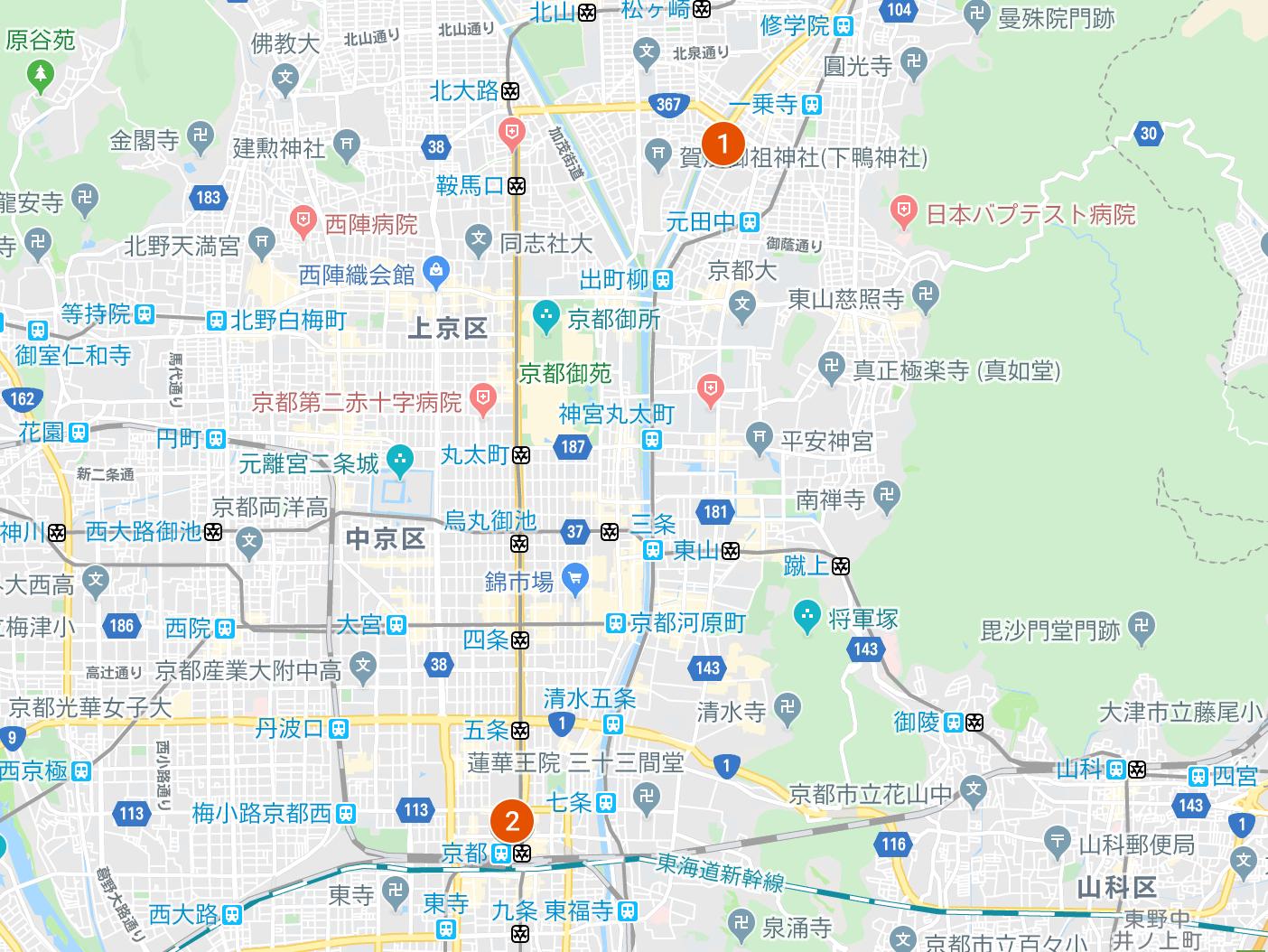 2店舗マップ